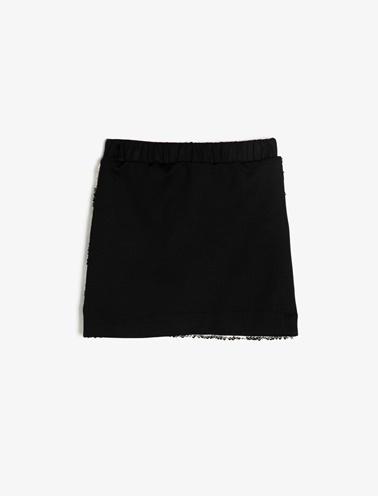 Koton Kids Pul Detaylı Etek Siyah